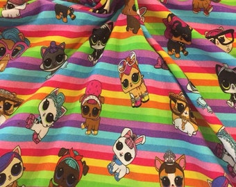 Pets 1/2 yard cotton lycra knit