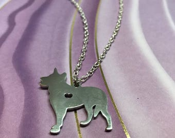 Stainless Steel Shepherd Charm Necklace