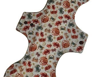 Super Core- Crabs Reusable Cloth Goddess XL/Postpartum Pad- WindPro Fleece- 16.5 Inches