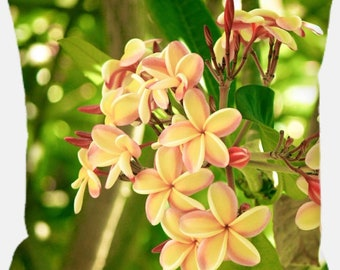 Maui Flowers Pillow 12x12