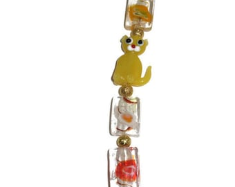 Crazy Cat Lady Yellow Necklace