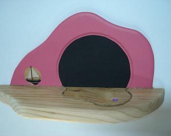 Pink and slate pine cloud shelf