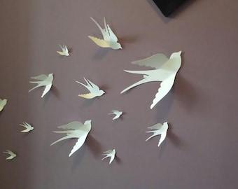 Mur 3D en papier papillon sticker 3D papier papillon