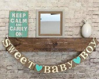 Baby Boy Banner-Baby Shower Banner- Sweet Baby Boy Banner- Its A Boy Banner- Baby Boy Banner- Baby Shower Decor- Baby Sprinkle Banner- Baby