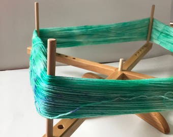 Yarn Swift by Chiao Goo // Natural Wood // Amish Style Table Top Winding Yarn Tool // Replacement Pegs Available