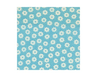 Tiny Daisies - Aqua 8787-6B by Cosmo Textiles Cotton Fabric Yardage