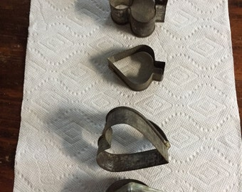 Vintage cookie cutters, tin. C.1940s-1960s?