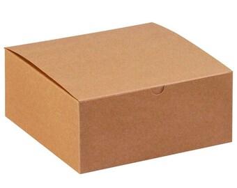 150- 4x4x2 inch Kraft Gift Box , Weddings, Gifts, Favors , Baby Showers, Weddings, Holidays