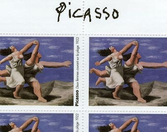 Picasso Artistamps - Deux Femmes Courant sur la Plage (Two Women Running on the Beach)
