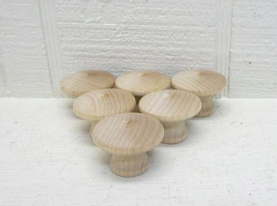 End Grain Wooden knobs 1-1/4 inch, unfinished