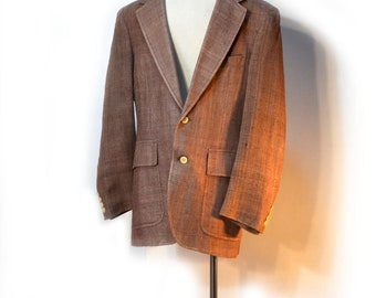70s Mens Silk Jacket Deansgate Blazer Heather