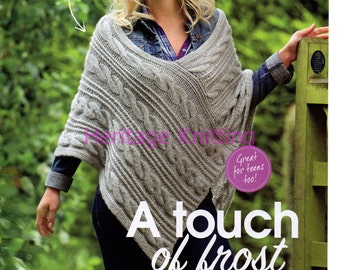 womens and childrens poncho chunky knitting pattern 99p
