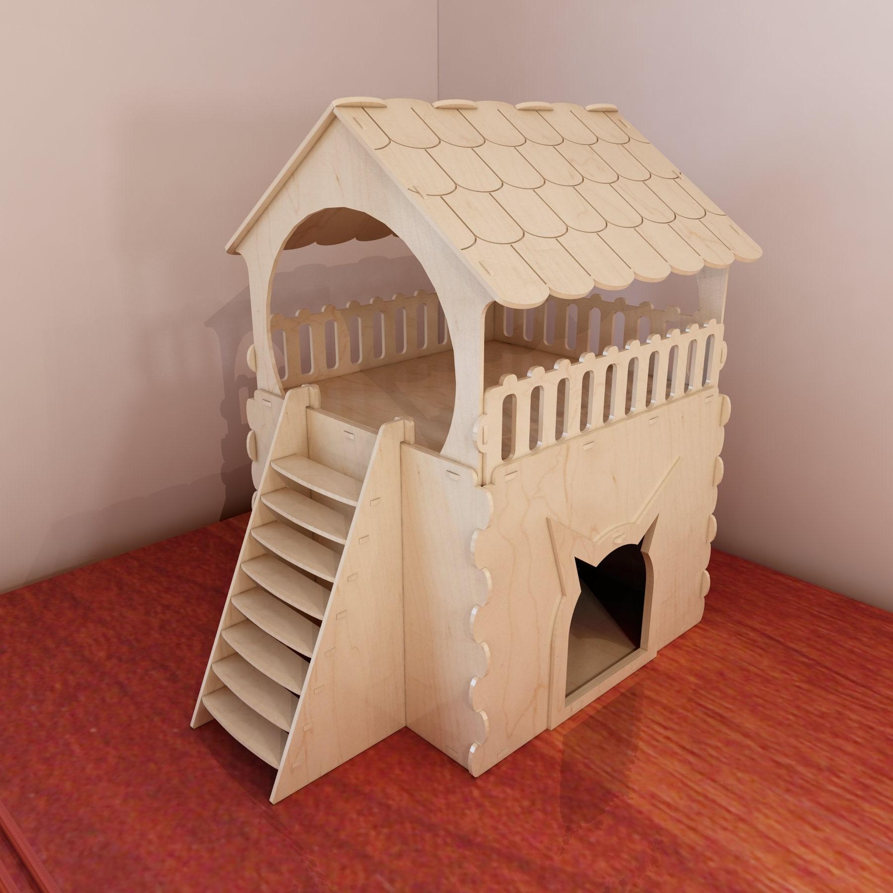 gro e katze hauspl ne f r cnc fr se und laserschneiden holz. Black Bedroom Furniture Sets. Home Design Ideas