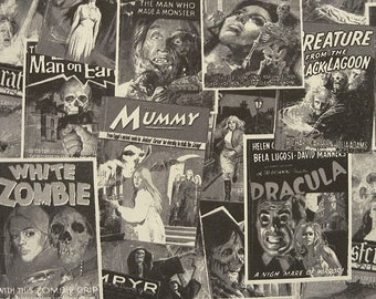 """110"""" HORROR MOVIE Fabric, Double Wide Fabric"""