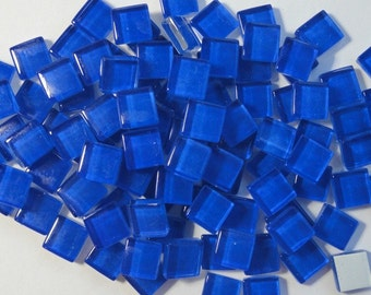 100 (10mm) MINI Royal Navy Blue Crystal Glass Mosaic Tiles 3/8 in.// Mosaic Supplies// Craft Supplies//Mosaic