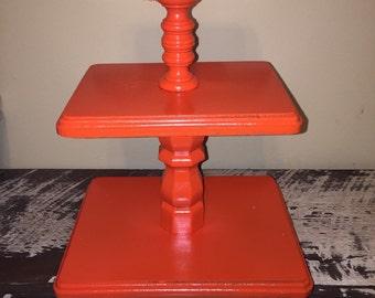 3 Tiered Cupcake Stand - Cupcake Stand - Wedding Cupcakes - Birthday Party Cupcake Stand - Custom Cake Stand - Rustic Wedding Cake Stand