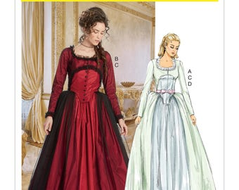 Misses' 18th Century Costumes - McCall's M7642 Misses Theatre Costume Pattern - US Sizes Sizes: 6 -8 -10 -12 -14 or 14 -16 -18 -20 -22