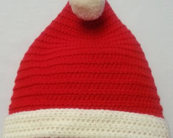 Red Crocheted Santa Hats.