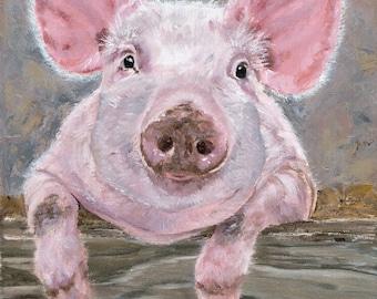 Baby Pig -  fine art paper print