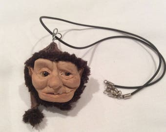 Handmade sculpture, one of a kind, keyring,necklace,home decor,hanging,fairie, elf,