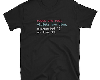 Programmer Funny T-Shirt Roses Are Red Coding Poem Geek