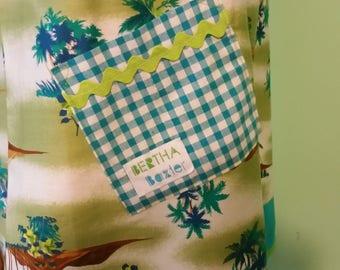 Bertha Baxter Funky Original Vintage Inspired Frock MuuMuu Summer Hawaiian Dress