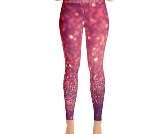 Red Glitterati - Yoga Leggings
