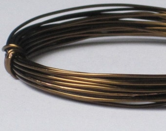 Bronze Color Jewelry Wire -- 22 gauge   (Qty 10 ft)    65-102