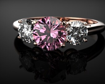 Pink Sapphire Engagement Ring Rose Gold Pink Sapphire Ring Pink Gemstone Engagement Ring Pink Sapphire Ring October  Ring