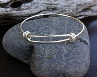 Sterling silver jewelry, Sterling silver adjustable bangle bracelet