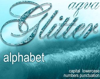 Digital Aqva Glitter Alphabet, Digital Lettering, Glitz Printable Lettering, Digital Download, #41