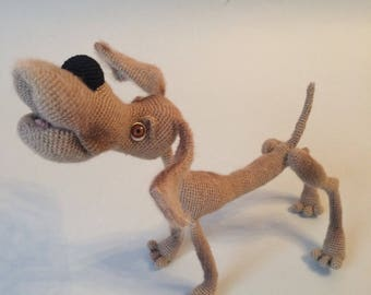 Amigurumi crohet hound dog