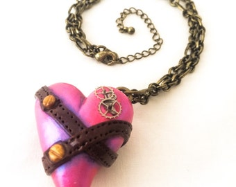 Steampunk Pink Heart