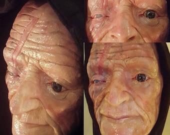 Display Prop Old Man Goblin/Imp Head (Unpainted)