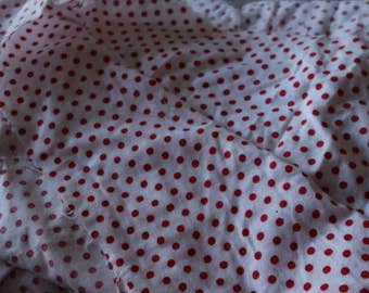 2 Red Polka dot flannel Cotton Flannel 2