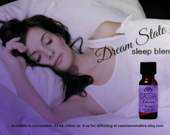Dream State Synergistic Blend .5 oz/ 15 ml.  aromatherapy for diffusing or massage