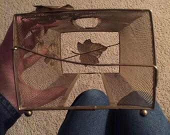 Vintage brass tissue holder