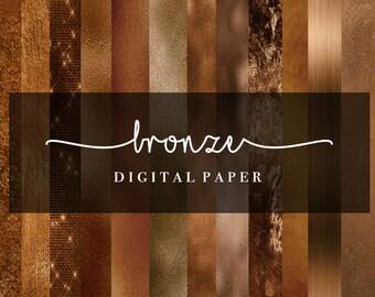 Bronze Paper Effects   Foil Effects   Digital Paper   Backgrounds   Scrapbook