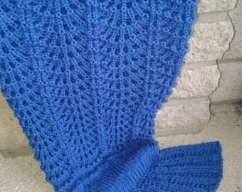 Knitting pattern mermaid; knitted mermaid tail pattern;   mermaid tail pattern; knit mermaid tail