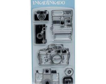 Inkadinkado Clear Acrylic Stamp Set - CAMERAS - CS082