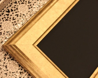 Vintage Style Simple Gold Frame Golden or Chalkboard Table Number Frames Picture Photo Rustic Antique Wedding Shabby Chic Glam Gatsby 5x7