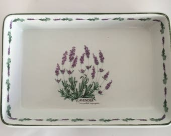 Weisenthal Porzellan Casserole| Classic White |No 2142 | Lavender|  Serving Dish| Small Casserole| Luncheon |Brunch Tableware|Vintage German