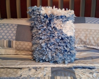 Baby Blue Rag Pillow