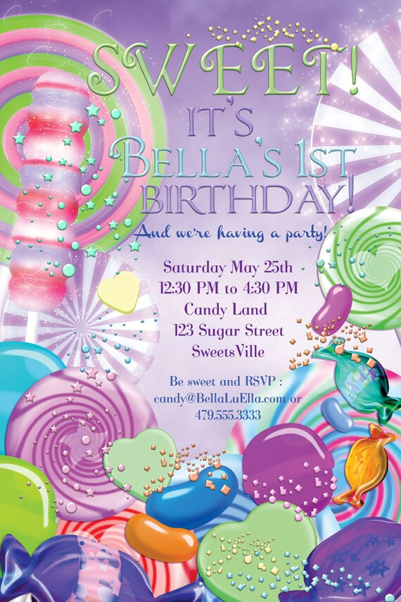 candyland birthday invitations Josemulinohouseco