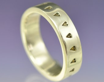 Hearts Galore - Sterling Silver custom made ring.