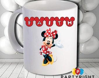 Personalised Minnie Mug - Dishwasher Safe - 10oz