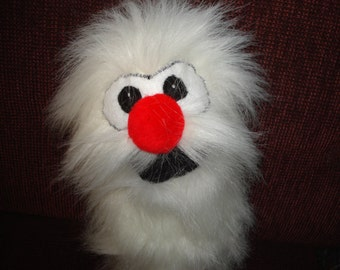 new for 2016 Wild Critter Abominable Snowman Hand Puppet  white faux fur