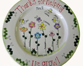 Thanks for helping us grow platter.  End of year teacher gift