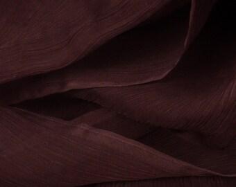 "Brown 100% Silk Crinkle Chiffon - 45"" Wide - 1 1/2 Yard (FABSCC-BN)"