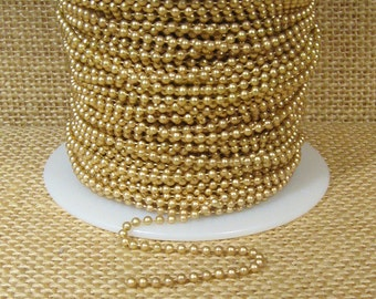 2.0mm Ball Chain - Matte Gold - CH110-MG - Choose Your Length